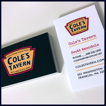 Coles Tavern Business Card Design